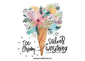 用鲜花做的水彩冰淇淋的励志语录_2686686