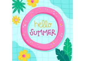 绘有问候夏日字样的插图_7750688
