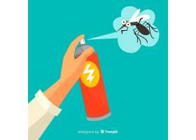 涂有蚊子喷雾的手_3127077