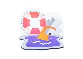 游泳抽象概念矢量插图水上运动游泳池_12470189
