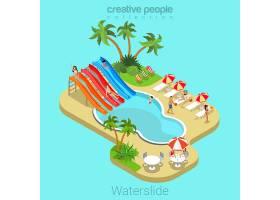 滑水平台3D等长暑假概念_12395071