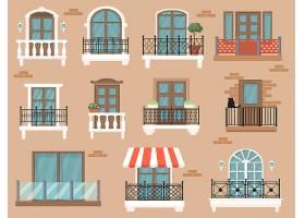 漂亮的装饰阳台专为网页设计而设卡通复_10606166