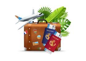 热带度假航空旅行服务组合_5358523