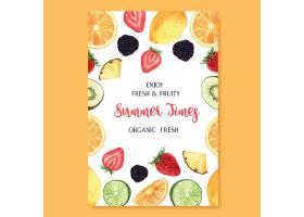 热带水果夏季海报百香果菠萝水果清新_4458337
