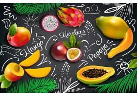 热带水果黑板组合_5358544
