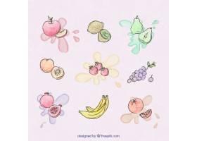 水彩飞溅手绘水果_894251