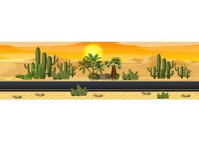 沙漠与公路自然景观风光交相辉映_11830107