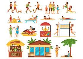 海滩活动装饰图标集_4343475