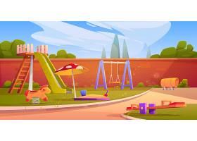 暑期公园或幼儿园的儿童游乐场_7401777