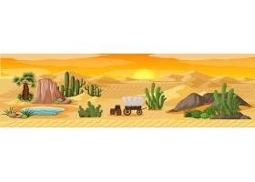 棕榈荒漠绿洲自然景观风光_11829879