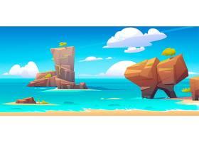 水中大石蓝天的海滨_12620545