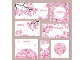 樱花盛开的贺卡模板_13187645