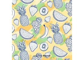 手绘热带水果图案_4410344
