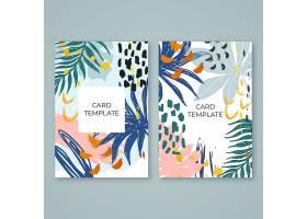 抽象热带卡片_8374887