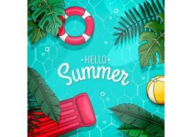 您好带游泳池的夏季设计_7663258