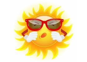 戴着墨镜的夏日太阳在打喷嚏过敏气候_2553318