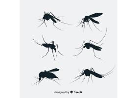 扁平蚊子剪影套装_3138800
