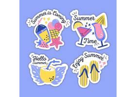 手绘夏季徽章系列_8247483