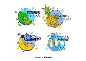 手绘夏季标签系列_4712382