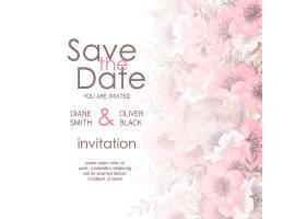 带花的结婚贺卡_3813656