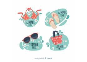 平坦的夏季徽章系列_4375268