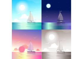 平坦的风景海洋海上游艇暑期旅游度假场_6323202