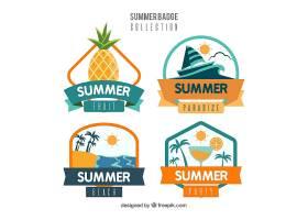 平板式夏季徽章系列_2389666