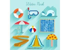 平面设计中的水上公园和夏季元素_889399