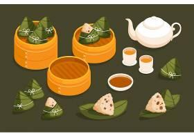 平面设计中的龙舟粽子收藏_8399843