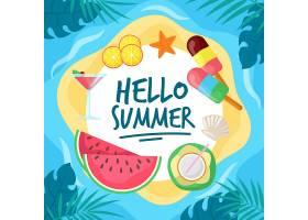 平面设计你好夏日和冰激凌_7606317