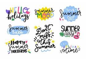 平面设计夏季徽章系列_8465963