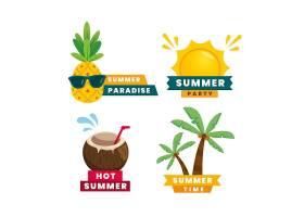 平面设计夏季标签套装_8300076