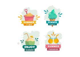 平面设计夏季标签系列_8300075