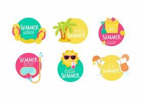 平面设计夏季标签集_8234158