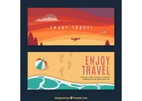 平面设计的夏季旅行横幅_2354190