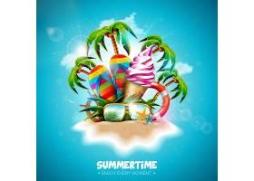带冰激凌的夏季假期_4916327