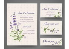 带有薰衣草花束的婚礼邀请卡_13187618