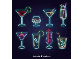 带有霓虹灯风格的鸡尾酒系列_2361466