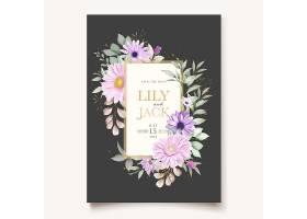 带柔软菊花的结婚贺卡_11851063