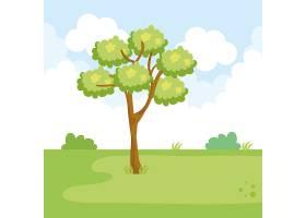 带树景的公园景观_5714203