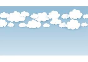 天空壁纸上有蓬松的云彩_13304684