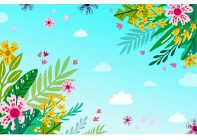 夏日背景花团锦簇_8486341