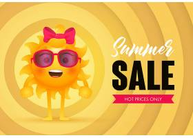 夏季大减价火爆的价格只有太阳的字样_4445034