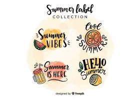 夏季标签系列_4277864
