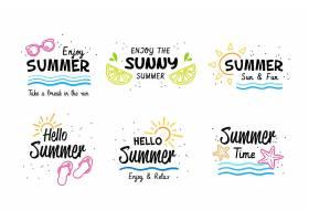 夏季标签集_7890252