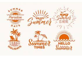 夏季标签集_8509363