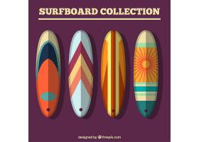 四块带有抽象设计的平板冲浪板_890414