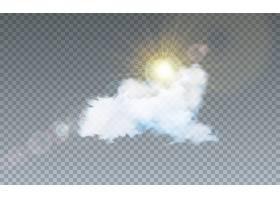 在透明上隔离云和阳光的插图_5041110