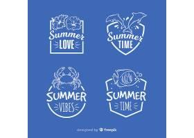 复古平房夏季标签系列_4712299