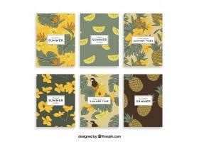 复古风格的植物夏日卡片收藏_2411511